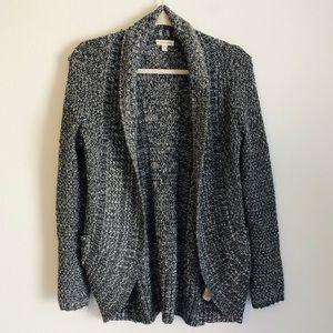 Silence + Noise Urban Knit Grey Cocoon Cardigan